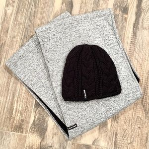 Calvin Klein Infinity Scarf and Knit Hat